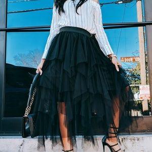 Tulle black skirt